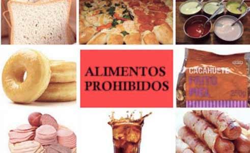 alimentos prohibidos para los celiacos