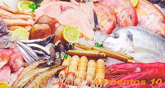 el pescado y el marisco son alimentos ricos en hierro